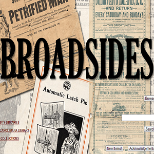 Broadsides from the Colonial Era to the Present