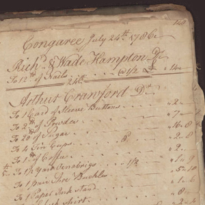 Congarees Store Account Book, 1784-86