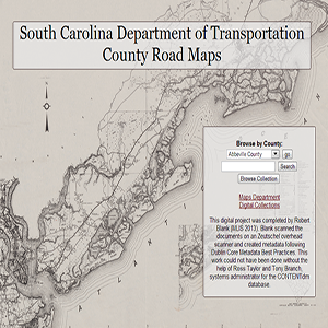 South Carolina Department of Transportation County Road Maps South