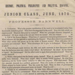 Exam from 1870