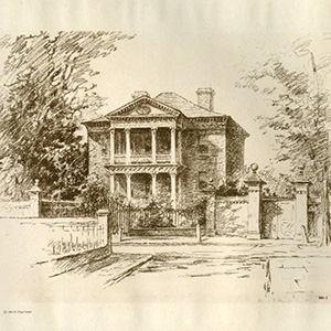 Drawing of Pringle House