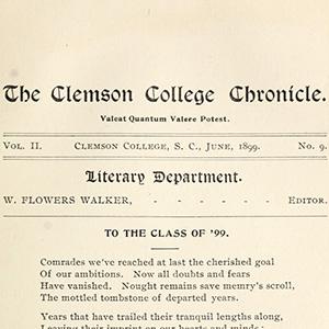 Clemson Chronicle cover