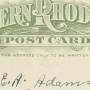 E.A.Adams post card