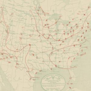 meteorological map of US