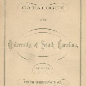 University of South Carolina Catalogue