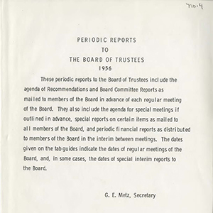 Page of Periodic Report to the BOT