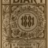 Cover of diary from 1881