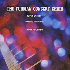 Album cover from an LP of the Furman Concert Choir