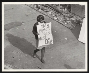 Young Female Protestor