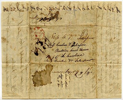 Letter from Taliaferro collection