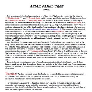 Ariail Family Tree
