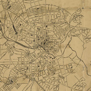 Old Map of Greenville