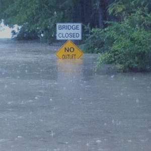 image of flooded roadway